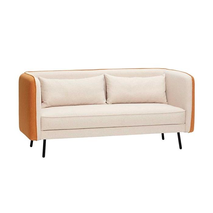 2-personers sofa i Beige og Orange