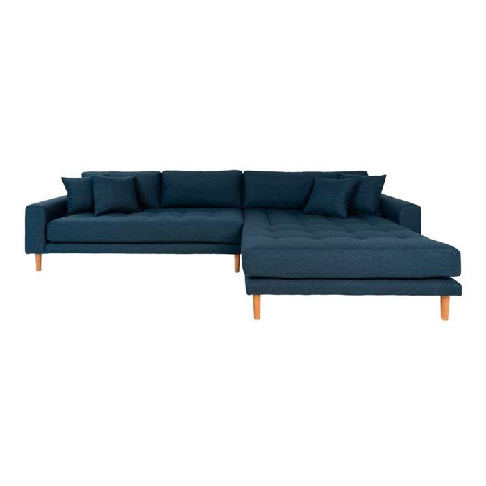 Lido 3-personers Sofa med Chaiselong Højre – Mørkeblå