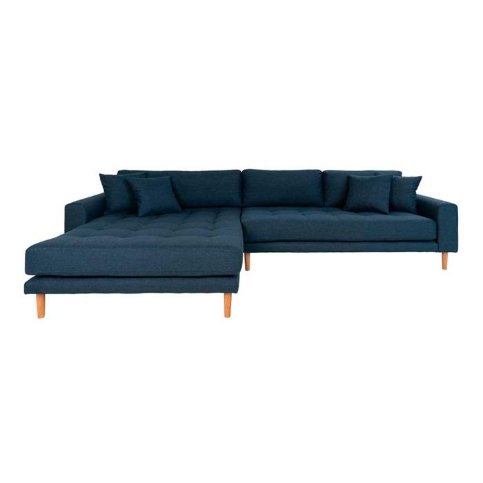 Lido 3-personers Sofa med Chaiselong Venstre – Mørkeblå