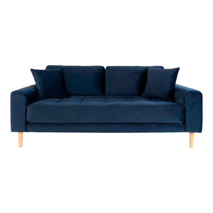 Lido 2,5-personers Velour Sofa – Mørkeblå