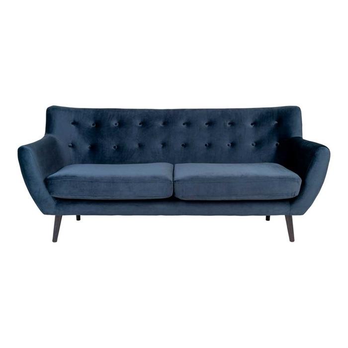 Monte 3-personers Sofa 180 cm. – Velour Blå