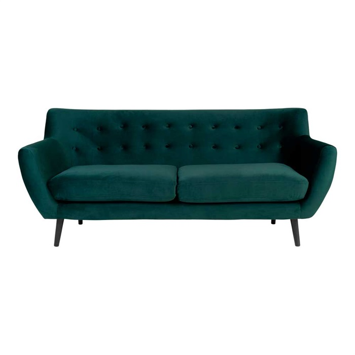 Monte 3-personers Sofa 180 cm. – Velour Grøn