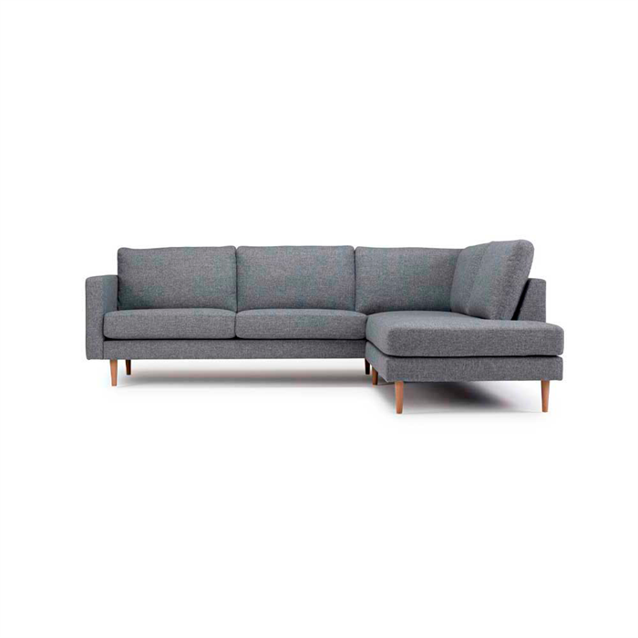 Nabbe 3-personers Sofa med open-end Højre – Grå