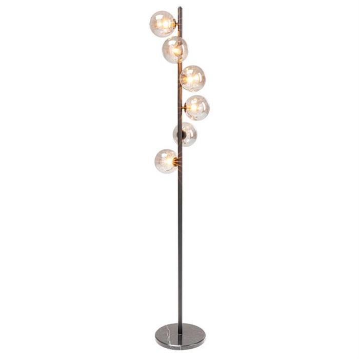 Gulvlampe Scal med Marmorfod og Glaskupler