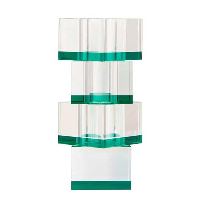 Flora vase 20 cm krystalglas - grøn