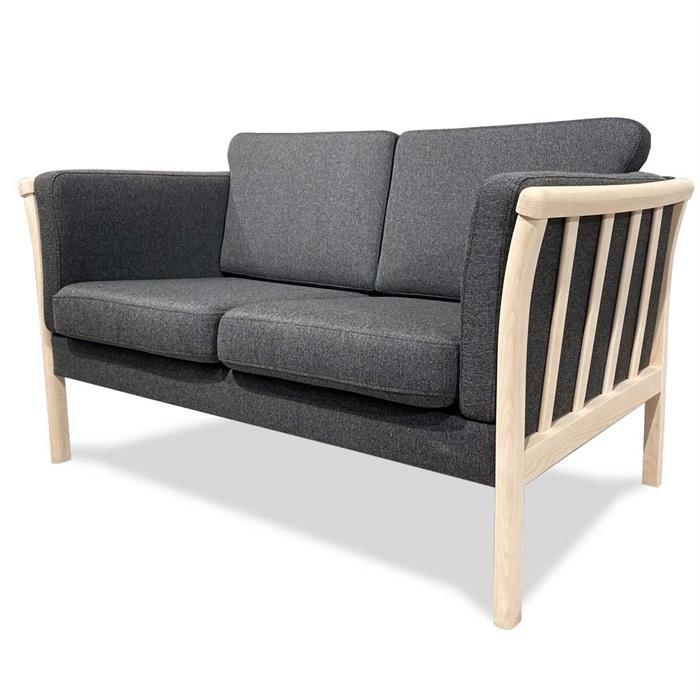 Denver 2-personers Sofa i Grå Stof