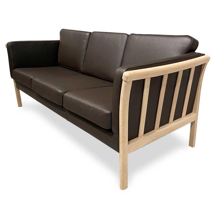 Denver 3-personers Sofa i Brun Læder