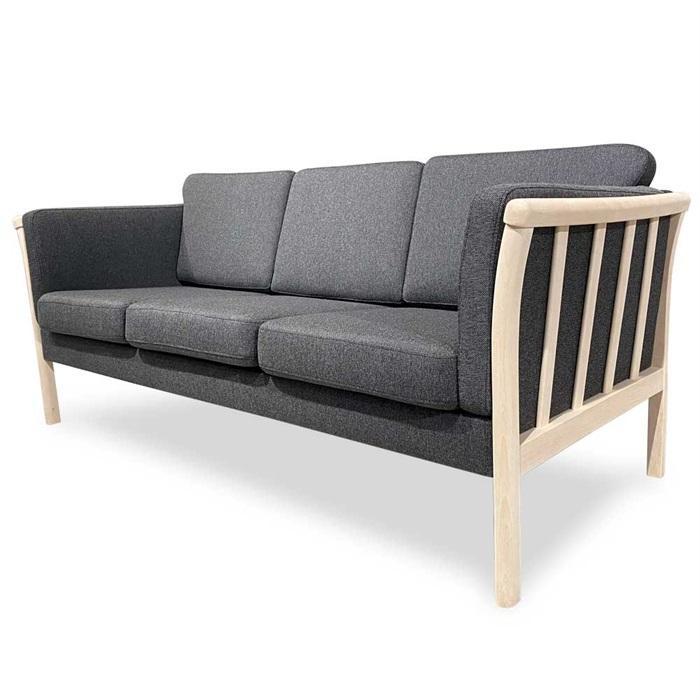 Denver 3-personers Sofa i Grå Stof
