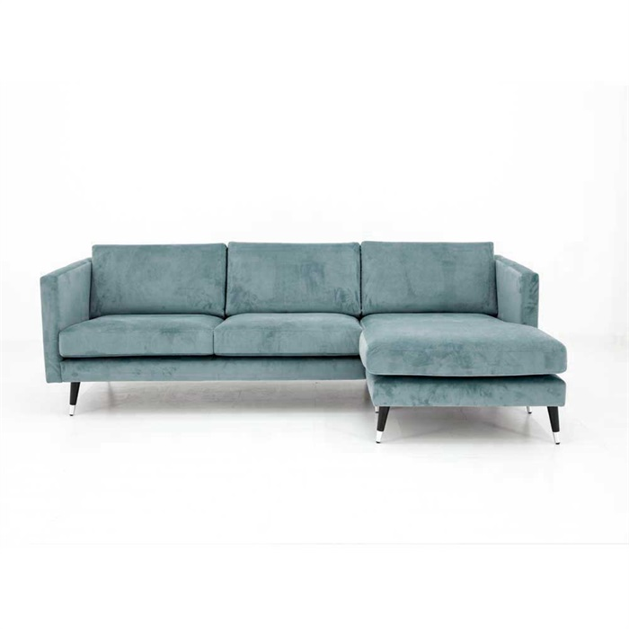 Maison 3-personers Sofa med Chaiselong Højre i Turkis / blå