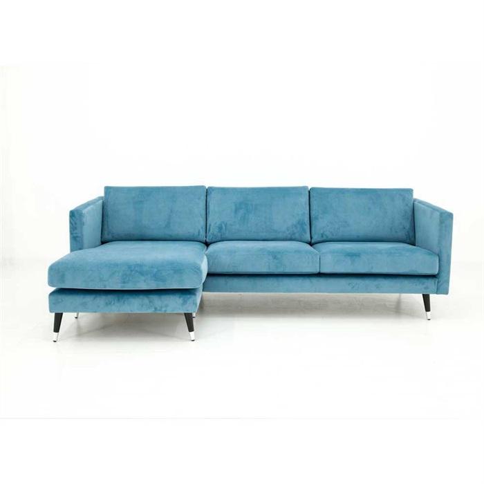 Maison 3-personers Sofa med Chaiselong Venstre i Turkis / blå