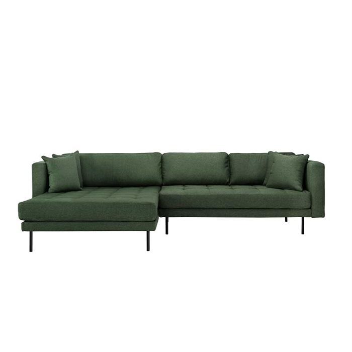 Matteo 3 personers sofa med Chaiselong venstre – Grøn