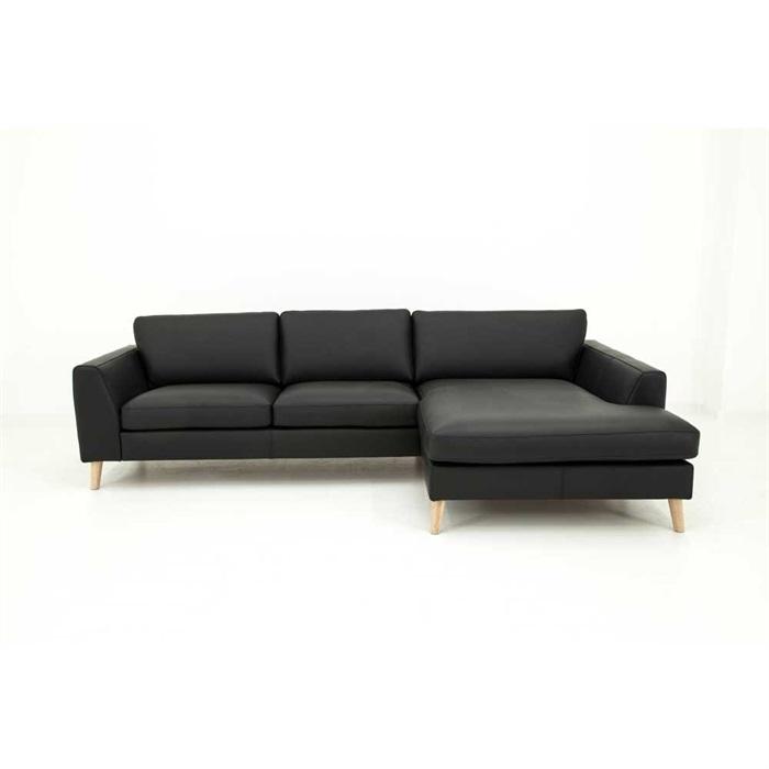 Nordic 2,5-personers Sofa med Chaiselong Højre i Læder