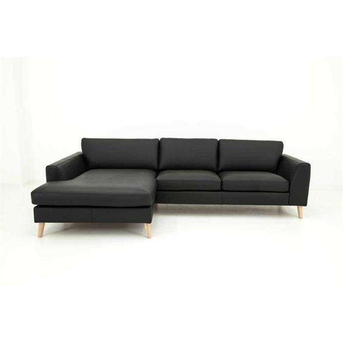 Nordic 2,5-personers Sofa med Chaiselong Venstre i Læder