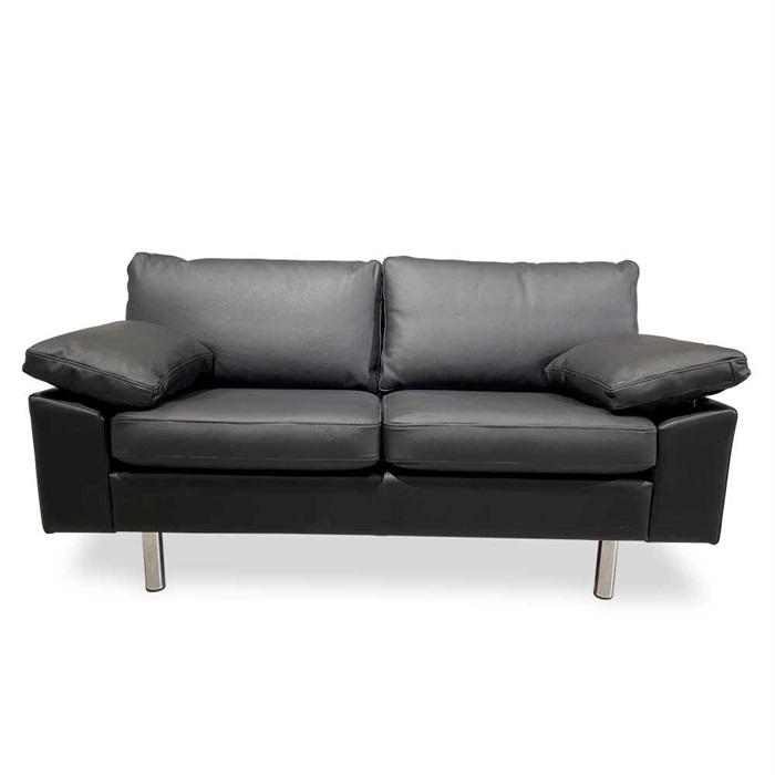 Oregon 2-personers Sofa i Sort Læder
