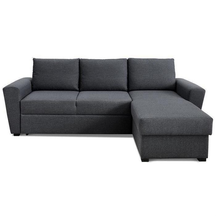 Sovesofa Livorno LUX med chaiselong højre - Mørkegrå