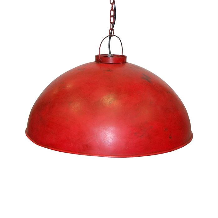 Loftpendel i fabriksstil - rød Ø52 cm