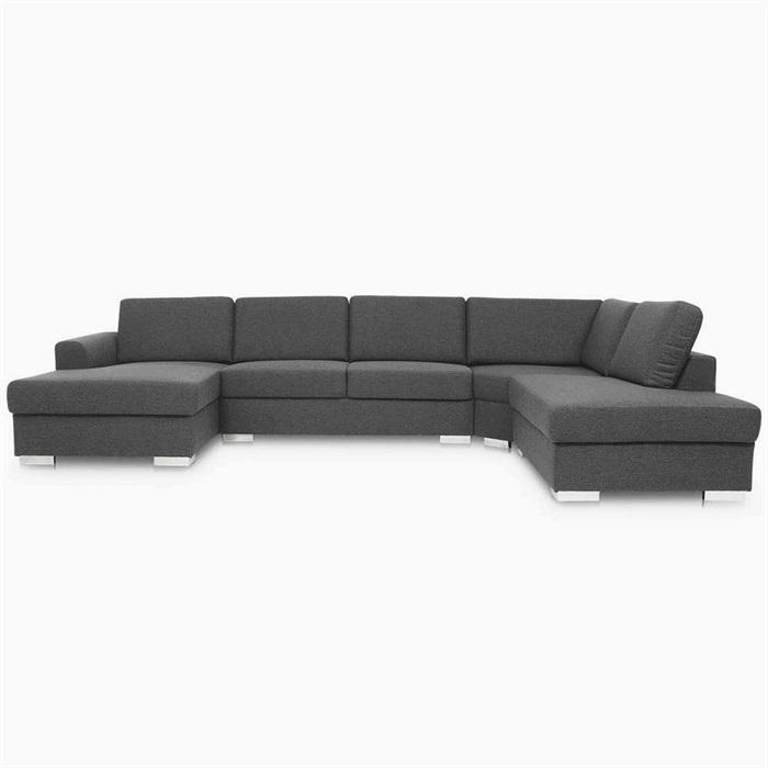 Lucca U-sofa med chaiselong til venstre og open-end højre