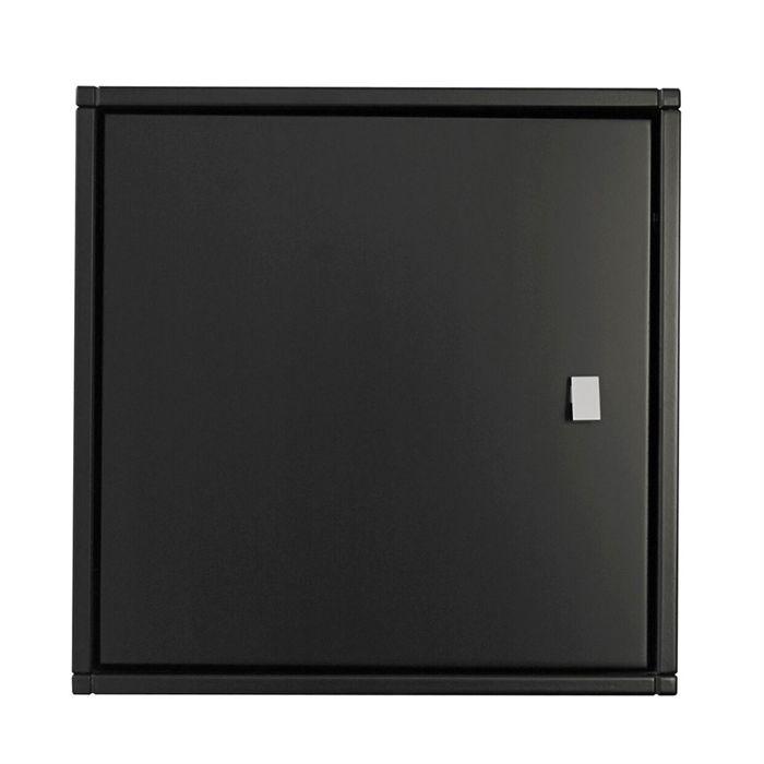 Square Reolen Sengebord i antrasit med låge