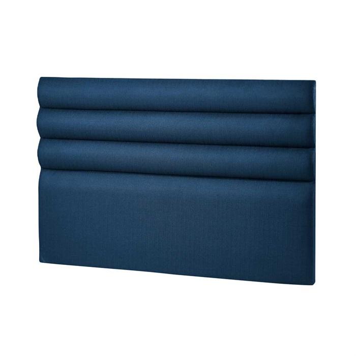 Sengegavl 140 cm model Wave 140x120x8 cm - Blå