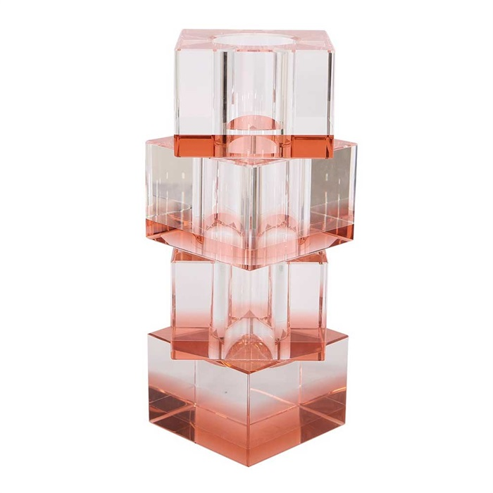 Flora vase 20 cm krystalglas - fersken