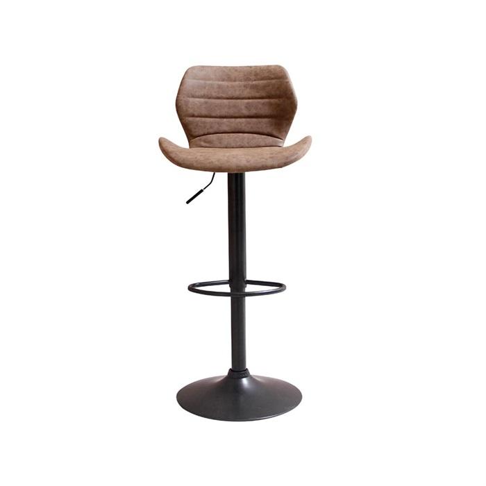 Adam barstol i brun med sort stel