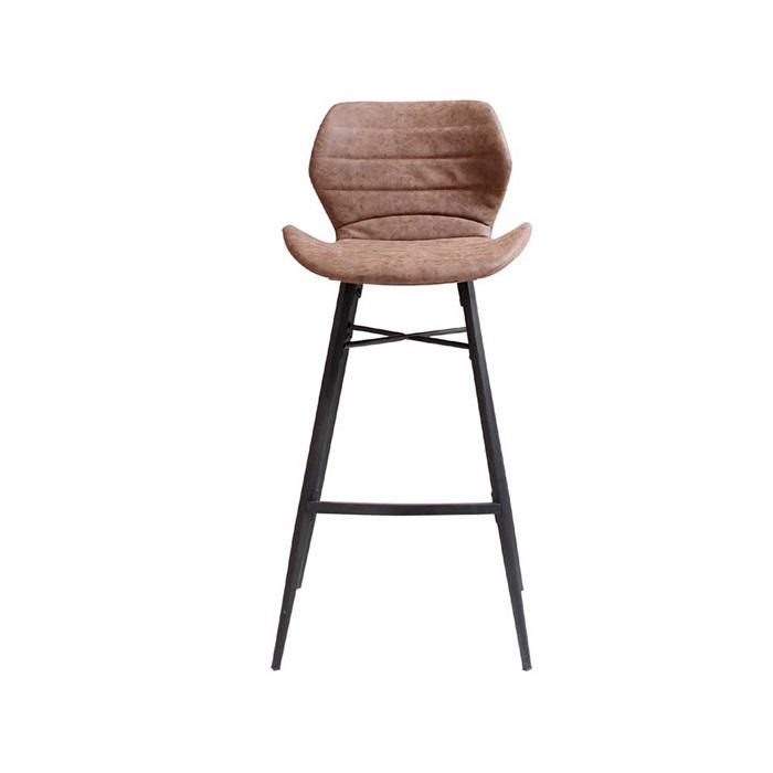 Adam barstol i brun med sorte ben